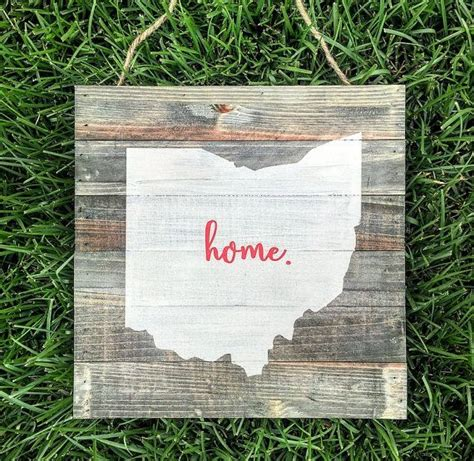 Ohio State Home Rustic Wood Plank Pallet Sign By. Bullying Signs Of Stroke. Sculptural Murals. Fox Animal Decals. Cottage Signs. Veery Stickers. Printable Address Labels. Poster Making Sites. Vinay Logo