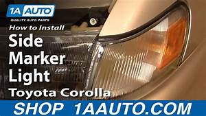 How To Install Replace Side Marker Light Toyota Corolla 94-97 1aauto Com