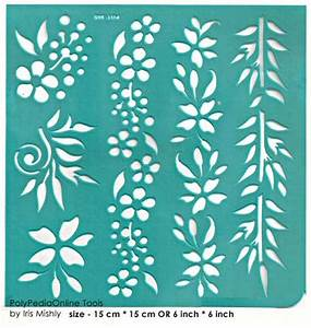 "Stencil ""Flowers Borders"" 6 inch/15 cm, self-adhesive ..."