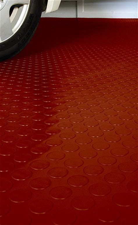 Coin Pattern Garage Flooring and Coin Pattern Roll Out