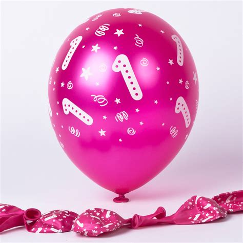 hugs st birthday pink balloon bouquet inflated