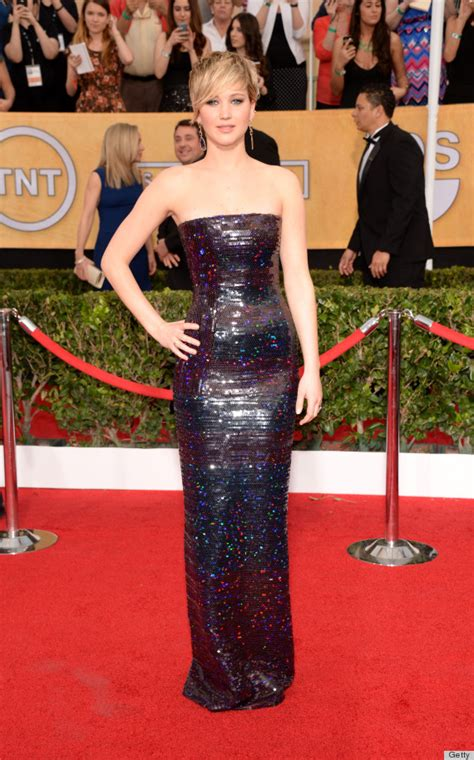 Jennifer Lawrence Sag Awards Dress 2014 Comes Complete