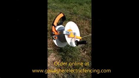 the gallagher electric fence medium geared reel