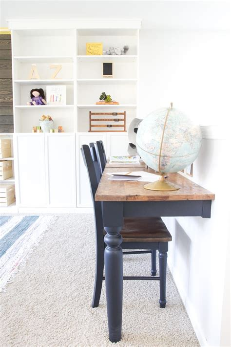 repurposed kitchen table wall mounted desks orc week