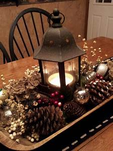 42 stunning christmas table decorations With best brand of paint for kitchen cabinets with rustic candle holder centerpiece