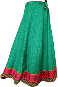 Long Cotton Wrap around Skirt