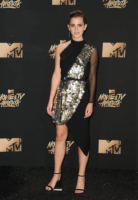 Emma Watson Black Dress Mtv Movie Awards
