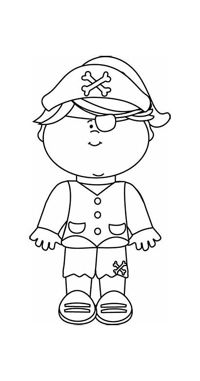 Pirate Clipart Clip Outline Pirates Kid Children