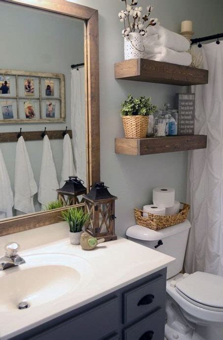 simple small bathroom decor brings  ease