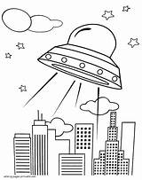 Ufo Coloring Pages Printable Space Boys Designlooter 56kb 1140px sketch template