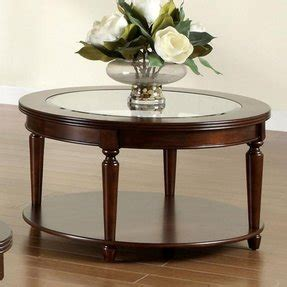 They are available in different sizes, shapes and wooden items give a retro feeling. Round Wood Coffee Table With Glass Top - Foter