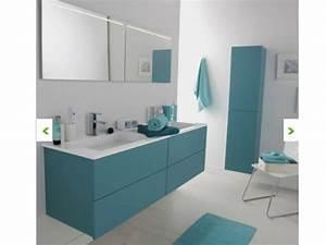 Meuble Salle De Bain Turquoise : deco salle de bain gris et bleu turquoise ~ Dailycaller-alerts.com Idées de Décoration