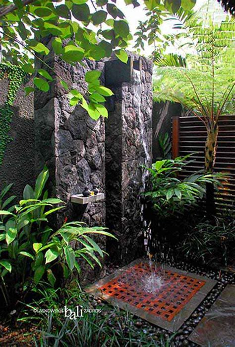 Tropical Shower 20 tropical outdoor showers with peaceful feeling home