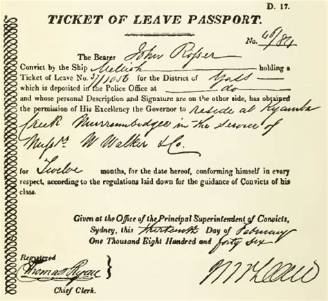 ticket of leave template ticket of leave wikipedia