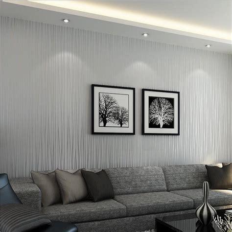 modern silver gray striped wallpaper  wall flocked