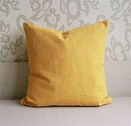Mustard Yellow Throw Pillow