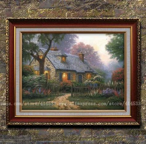 home interiors kinkade prints prints of thomas kinkade oil painting foxglove cottage landscape painting modern wall painting