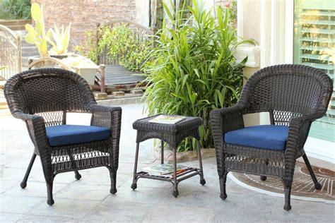 Resin Patio Furniture by 4 Black Resin Wicker Patio Furniture Set Loveseat