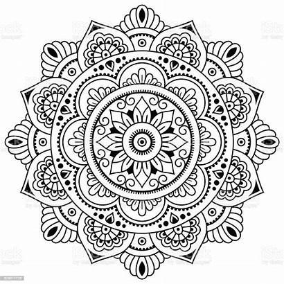 Mandala Coloring Henna Mehndi Yang Yin Tatoo