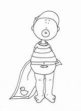 Digi Coloring Pages Diaper Boy Stamps Dearie Dolls 2768 Doll sketch template