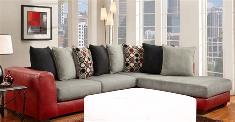 Global Furniture Usa 6350 Sectional Sofa Micro Fabric