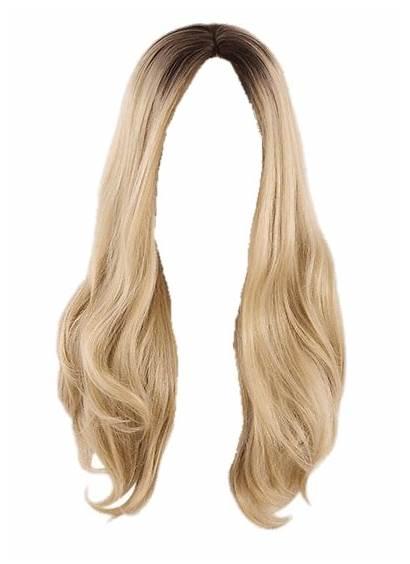 Wig Transparent Clipart Blond Cabello Rubio Peluca
