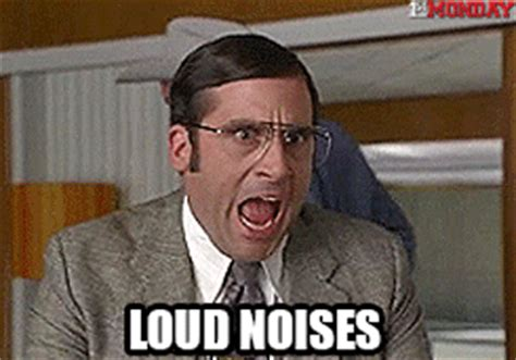 Loud Noises Meme - steve carrell anchorman gif by firstandmonday find share on giphy