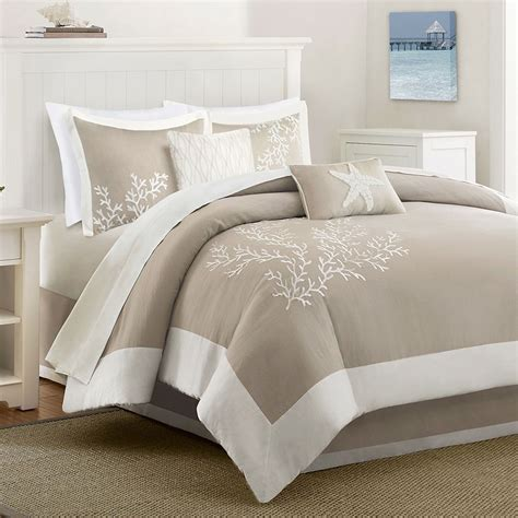coastline 6 pc comforter bed set from harbor house