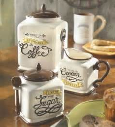 Canisters Kitchen Decor New Coffee Themed Canister Sugar Bowl Creamer Kitchen Decor Gift Set Sugar Bowls Bowls And