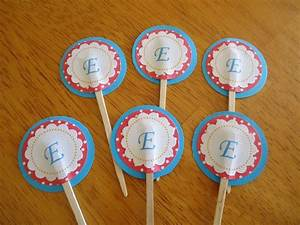letter cupcake toppers things i made pinterest With letter k cupcake toppers