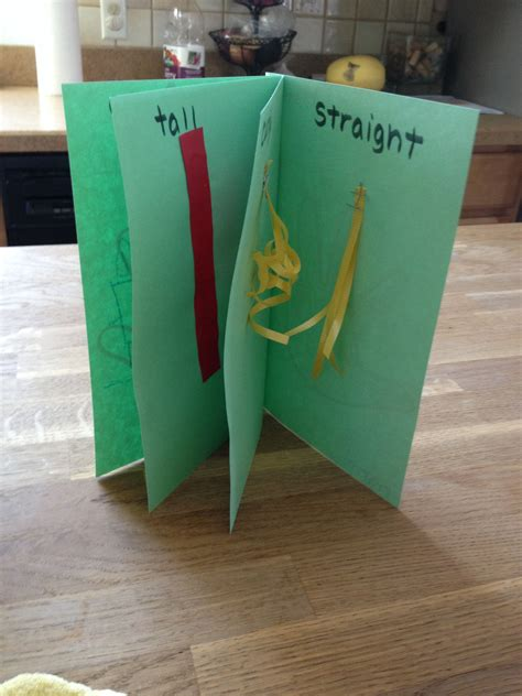 preschool opposites theme preschool craft opposites book left right last curly 795