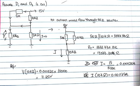 Diode Circuit Analysis Using Ideal Diodes Exam