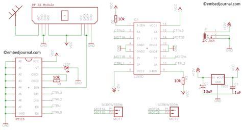 Simple Car Transmitter Receiver Circuit Diagram