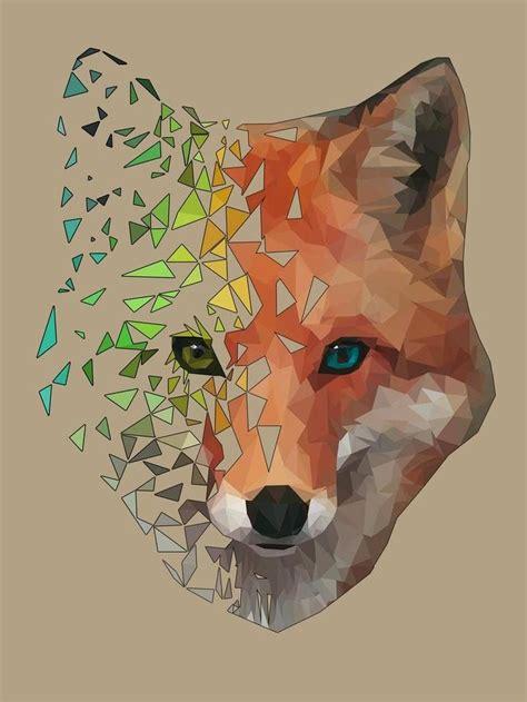 polygon fox   poly  photoshop