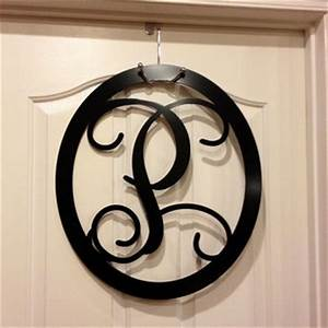 large metal monogram letters door from housesensations on With large metal monogram letters