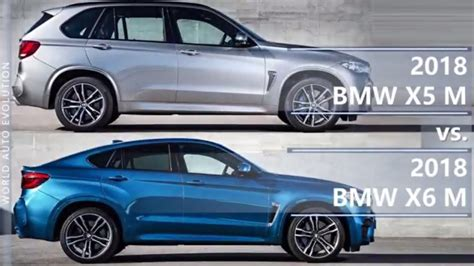 2018 Bmw X5 M Vs 2018 Bmw X6 M (technical Comparison