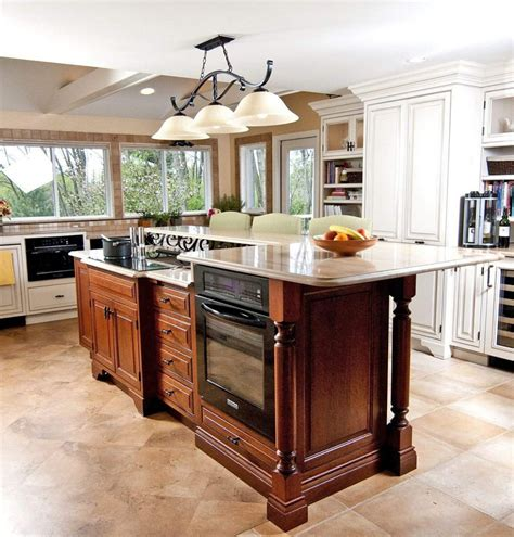raised kitchen island astonishing kitchen islands with stove and oven from kitchenaid kitchen appliances also raised