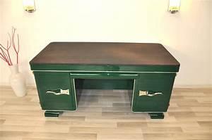 Art Deco Schreibtisch : racing green art deco schreibtisch mit seltenheitswert original antike m bel ~ Orissabook.com Haus und Dekorationen