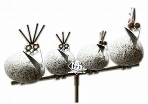 steinvogel gartenstecker sv480 fur garten und wohnung ebay With französischer balkon mit figuren aus stein für den garten