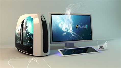 3d, Pc, Computer, Monitor, Case, Keyboard