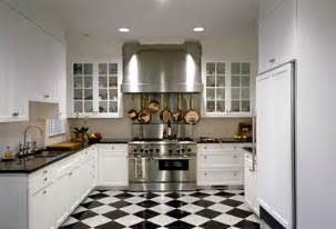 what color go with a black and white tile kitchen floor on aol answers