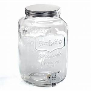 Distributeur De Boisson : distributeur de boisson en verre 4l transparent ~ Teatrodelosmanantiales.com Idées de Décoration