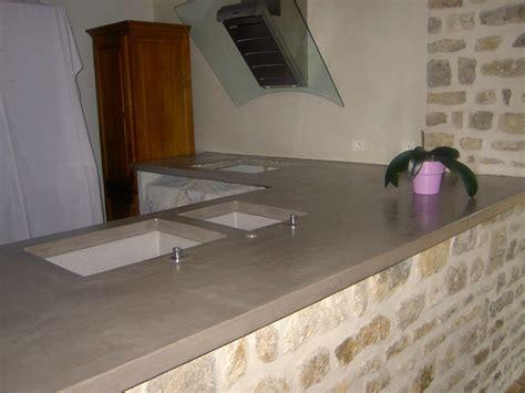 beton pour plan de travail cuisine cuisine plan de travail côté béton