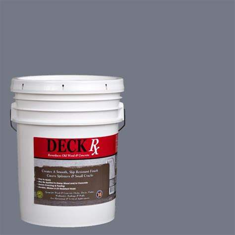 Deck Resurfacer Home Depot by Deck Rx 5 Gal Slate Wood And Concrete Exterior Resurfacer