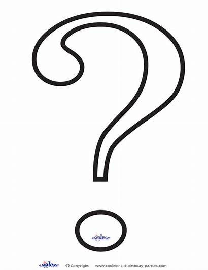 Question Mark Printable Coloring Outline Printables Decoration