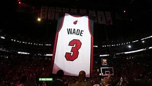 dwyane wade heat legend 39 s jersey number retired in