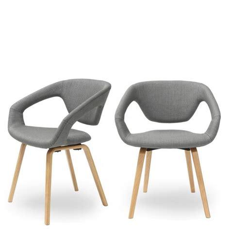 lot de chaises design chaise design scandinave bois et tissu danwood soft drawer