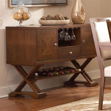 cherry wood buffet table coaster garrison 102915 brown wood buffet table in los