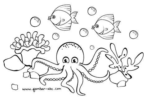 Cara menggambar kehidupan bawah laut bunda suci. Gambar Ikan Hitam Putih - Gambar 06