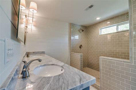 Shower for 2   Transitional   bathroom   White & Gold Design